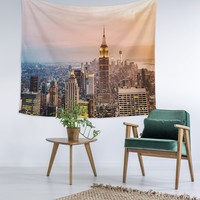 NYC Sunset Wall Tapestry