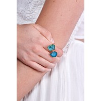 Feeling So Cool Statement Ring (Blue)