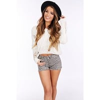 Call Your Bluff Distressed Sweater (Ivory)
