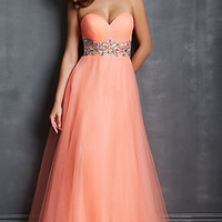 A-line Strapless Sweetheart Prom Dress