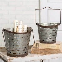 Rustic Olive Buckets