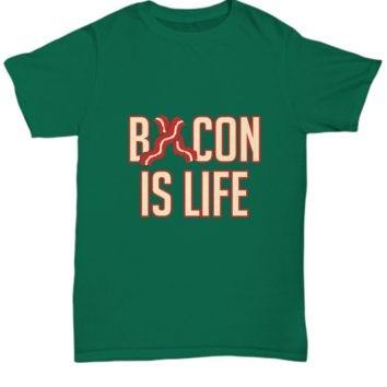 Bacon is Life Stripes of Bacon Foodie T-Shirt