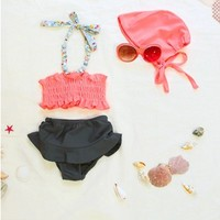 Vintage Inspired Girls Clothes Little Girls Swimsuit Vintage Inspired two piece Bathing Suit   Vindie Baby