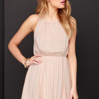 By and By Beige Lace Dress