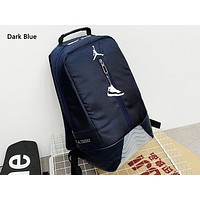 Jordan fashion men and women patchwork color backpacks are selling casual backpacks Dark Blue