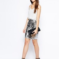 Dress With Sequin Skirt -
