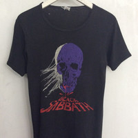 SOLD! Black Sabbath shirt 1970s vintage t shirt band t-shirts heavy metal clothing early 70s rock tshirt ozzy skull t-shirt xs small