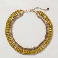 Escalier Necklace by Anthropologie Yellow One Size Necklaces