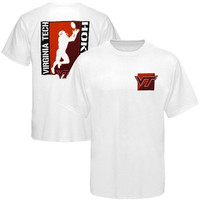 Virginia Tech Hokies White Two-Sided Football T-shirt