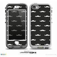 The Mustache Galore Skin for the iPhone 5-5s NUUD LifeProof Case