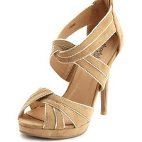 Sueded X-Front Zip-Back Pump: Charlotte Russe