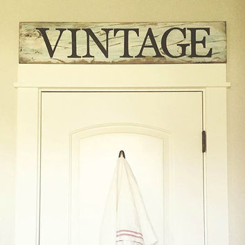 Vintage Sign - Rustic Kitchen Sign, Repurposed Wood Sign, Bakery Sign, Hand-painted Sign, Kitchen Decor, Rustic Farmhouse Decor