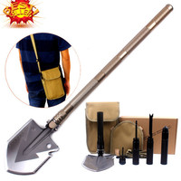 2016 Hot  selling  Professional Military Tactical Multifunction Shovel Outdoor Camping Survival Folding Spade Tool Equipment