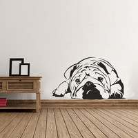 Old English Bulldog Vinyl Wall Decal Sticker Graphic