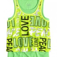 Lace Typography 2fer Tank   Tanks   Tops & Tanks   Shop Justice