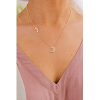 Make A Wish Charm Necklace (Gold)