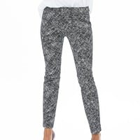 Banana Republic Womens Sloan Fit Textured Black Slim Ankle Pant