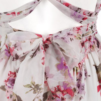 V Cut Backless Florals Jumpsuit -SheIn(Sheinside)
