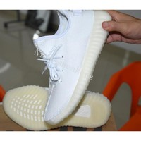 Fashion 350 Boost V2 Cream White AAA+ quality Kanye West Boost 350V2 Men Running Shoes women sneakers sports shoes eur 36-45 with box