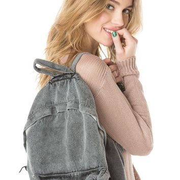 Brandy ♥ Melville |   Washed Fabric Backpack - Backpacks - Bags - Accessories