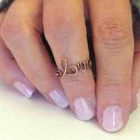 Knuckle Ring Wire Love Ring Handmade by DurangoDreamDesigns
