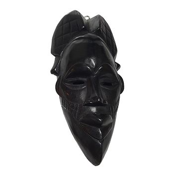 """🎁 ONE DAY SALE 12"""" African Wood Mask in Black"""