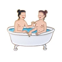 Bath Enamel Pin