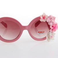 Women's Cute Lovely Summer Style Hot Fashion Fimo Flower Sunglasses = 4672316996