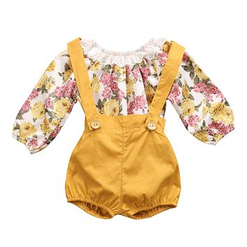 Baby Girl Summer Floral Clothing Set