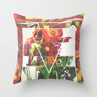 Fake Flowers Throw Pillow by Danny Ivan