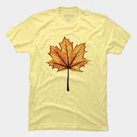 Autumn Leaf Decorative Art T Shirt By Boriana Design By Humans