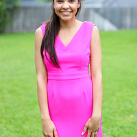 Rooftop Party Dress - Hot Pink