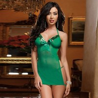 Cute On Sale Hot Deal Green Backless Sexy Dress Exotic Lingerie [6596448387]