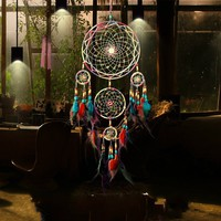Accessories Decoration Home&living Dreamcatcher Handmade Multicolor Indian Feather Gift