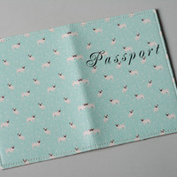 Handmade cute leather Passport cover with unusual print Pugs Accessories ideas