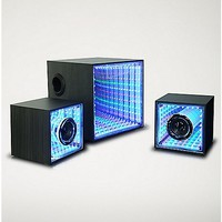 LED Mirror Tunnel Subwoofer with Speakers - Spencer's