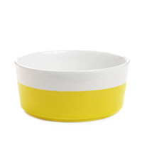 Colorful Ceramic Dipped Dog Bowl - Hello Yellow