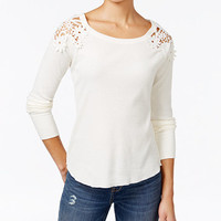 One Hart Juniors' Crocheted High-Low Top, Only at Macy's | macys.com