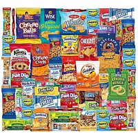 Snack Box Variety Pack (48 Count) Ultimate Sampler Mixed Box, Cookies Chips Candy Care Package for Office Meetings Schools Friends Graduation 2021- College Student
