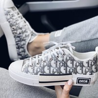 shosouvenir  Dior Alphabetic Canvas White Shoes
