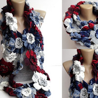 2014 Fashion scarf ,infinity Floral scarf ,NEW Lariat scarves ,eternity . cowl,Winter ,spring ,fall fashion