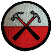Pink Floyd The Wall Hammers Embroidered Iron On Patch