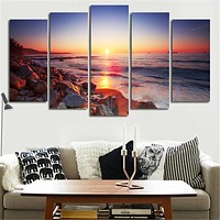 5 Piece Modern Wall Art Canvas Stone Is Land Tableau Print Painting Decorative Picture For Home Decor Unframed Poster Art Canvas