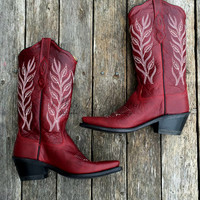 OLD WEST BOOTS RED
