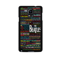 the beatles typography song lyric Samsung Galaxy Note 3 Case