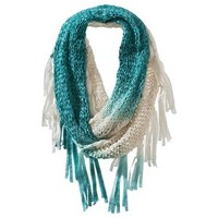 Mad Love® Solid Infinity Scarf with Fringe - Blue