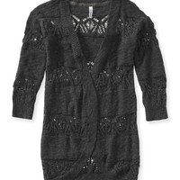Lace Cocoon Cardigan