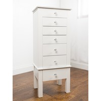 """Hives & Honey """"Hannah"""" Crisp White Jewelry Armoire   Overstock.com Shopping - The Best Deals on Jewelry Boxes"""