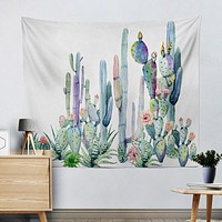 Original  Watercolor Cactus Tapestry