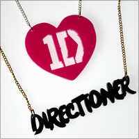 One Direction Necklace - Fan Gift Jewellery Pendant Harry Zayn Louis Niall Liam